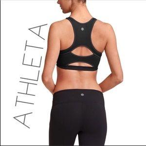 3/$50 NWT Athleta Double gray sport yoga bra XXS